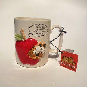 Vintage Enesco Garfield The Cat 3D Teacher What's